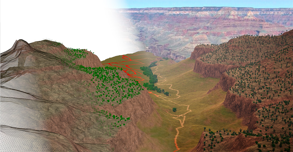 Naissance d'un canyon